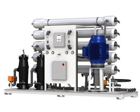 دستگاه تصفیه آب صنعتی 70 مترمکعبی ساخت و تولید توسط آریا صاف